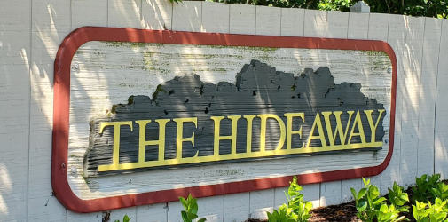 westerville hideaway apartment sign